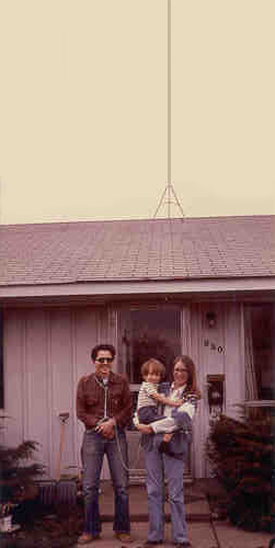 Me & Cid & Ian ca 1978 -- with the antenna on the roof, of course
