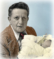 My father, George Bull Young with his first grandson, Ian G. Bull Young, March 1975
