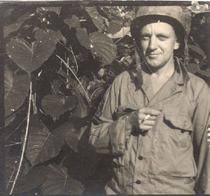 My father, SGT George Bull Young in the Guadalcanal jungle.